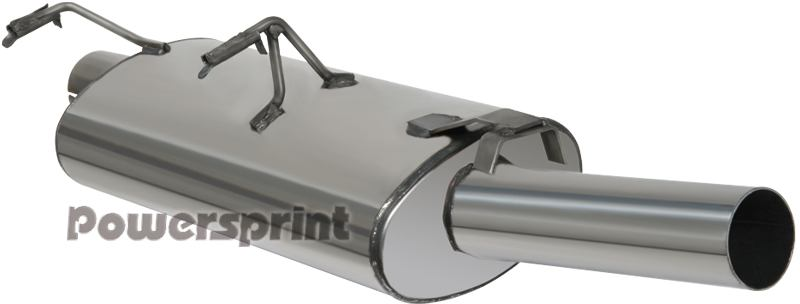 Powersprint Edelstahl Endschalldämpfer für Gr. A Rennsportanlage (991693)