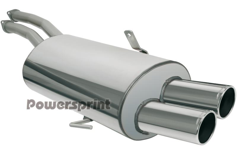 Powersprint Edelstahl Endschalldämpfer (990402)