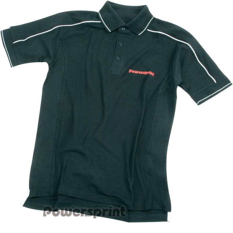 Powersprint Polohemd Halbarm, schwarz
