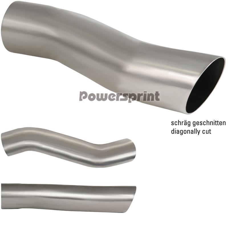 Powersprint Edelstahl Auspuff Endrohr S-Form